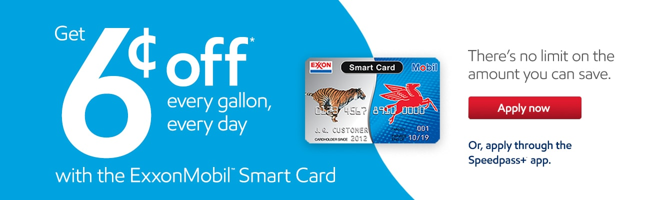 Mobil Gas Card >> Personal Gas Credit Cards From Exxonmobil Exxon And Mobil